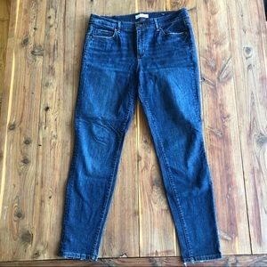 LOFT Medium Wash Skinny Crop Denim Jeans